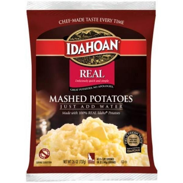 Idahoan Real Mashed Potatoes, Made with Gluten-Free 100-Percent ...