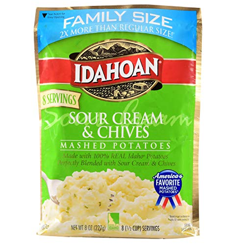 IDAHOAN Roasted Mashed Potatoes, Family Size 8 oz Sour Cream & ...