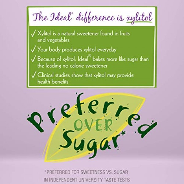 Ideal No Calorie Xylitol Sweetener: Natural, Non GMO, Keto Frien...