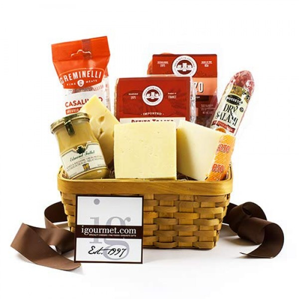 Basket of Meat and Cheese Favorites 5.1 pound by igourmet
