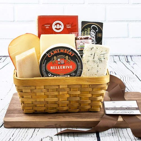 3 Pounds of Gourmet Cheese Favorites in Gift Basket