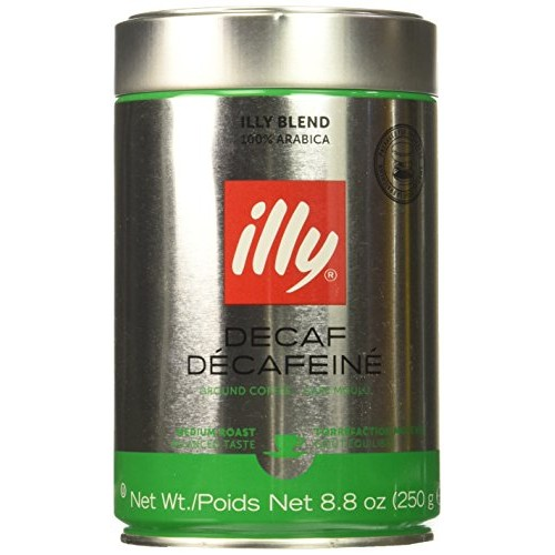 illy Decaffeinated Espresso Coffee, 8.8 Ounce -- 6 per case.