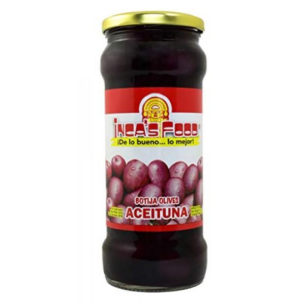 Incas Food Black Olives in Brine - Aceitunas Negras de Botija -...