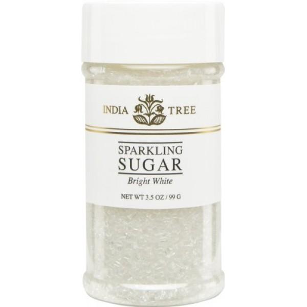India Tree Bright White Sugar Sprinkles 10213,3.5 OZ