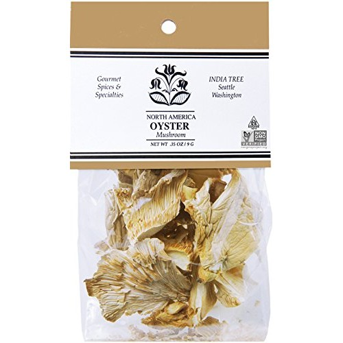 India Tree Oyster Mushrooms, .35 oz Pack of 6