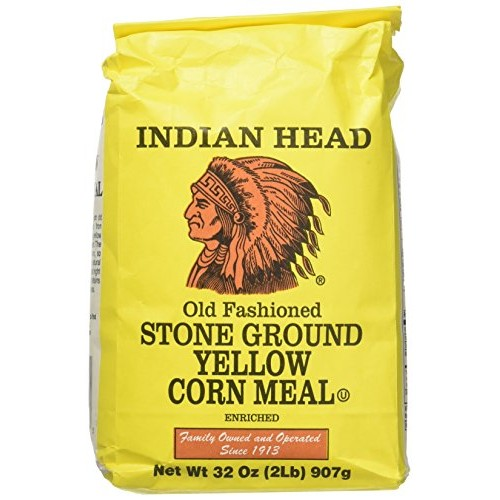 Indian Head Old Fashioned Stone Ground Yellow Corn Meal (2 Pack)...