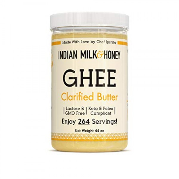 Chef Crafted Original Clarified Ghee Butter by Indian Milk & Hon...