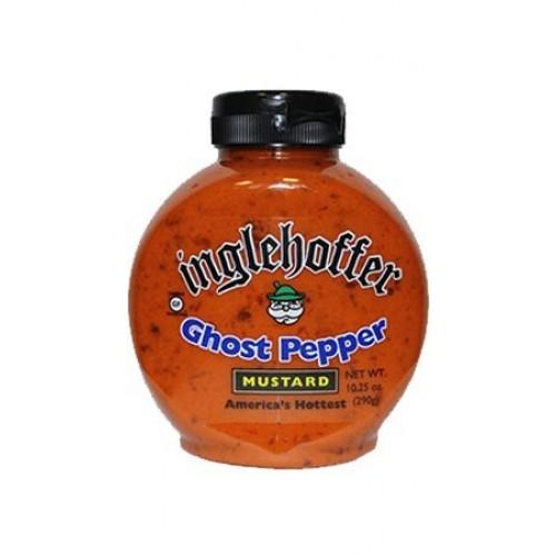 Inglehoffer Ghost Pepper Mustard, 10.25 oz Squeeze Bottle