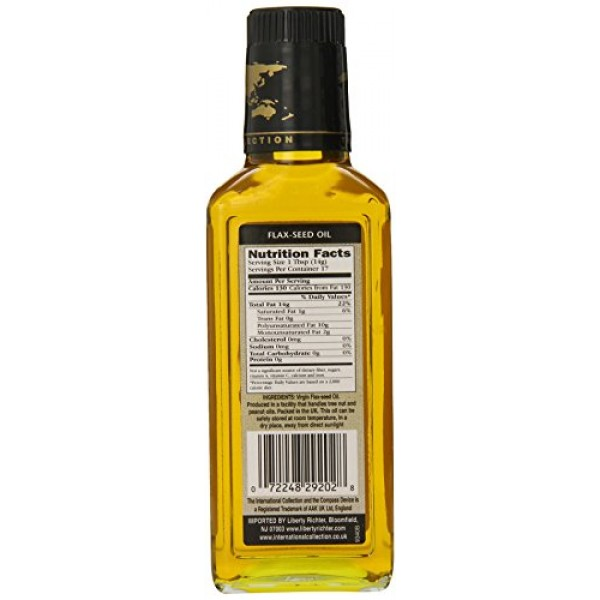 International Collection Oil, Flax Seed, 8.45 Ounce