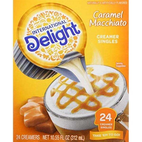 International Delight, Caramel Macchiato, 24-Count Creamer Singl...