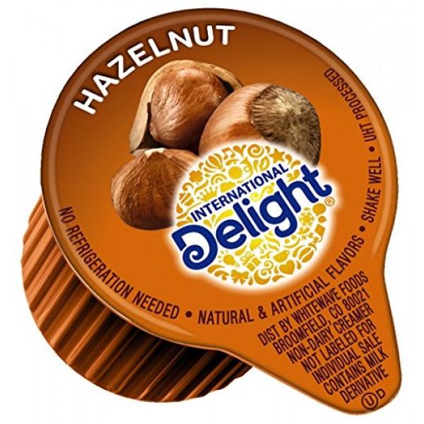 International Delight, Hazelnut, Single-Serve Coffee Creamers, 2...
