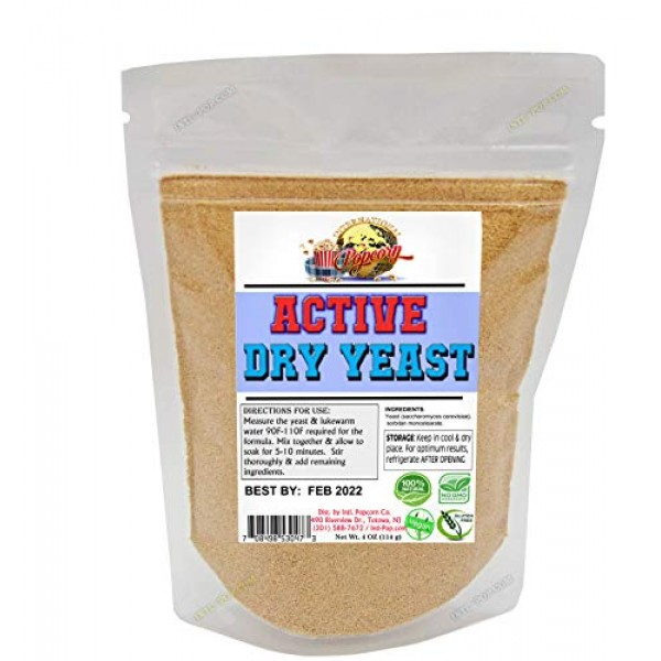 Active Dry Yeast 4 oz EXPIRES 06-2022 - FAST Shipping! Slim Rese...