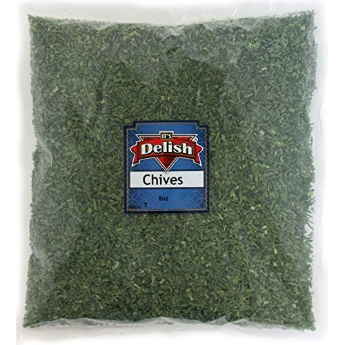 Dried Chives All Natural by Its Delish, 8 Oz Half Pound Bag