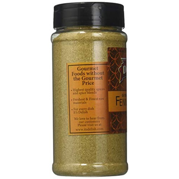 Its Delish Ground Fennel Seeds All Natural, 6 Ounce