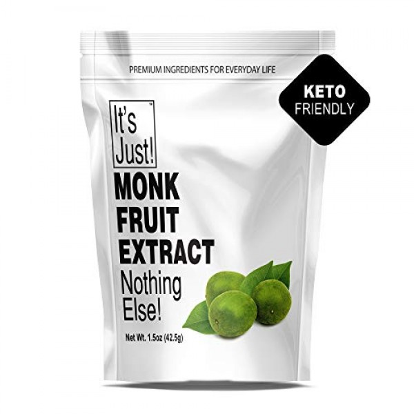 Its Just - 100% Monkfruit Extract Powder, Keto Friendly Sweeten...
