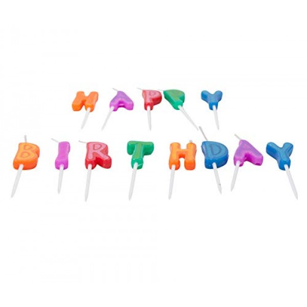 Jacent Happy Birthday Letter Candle Cake Toppers, 13 Count per P...