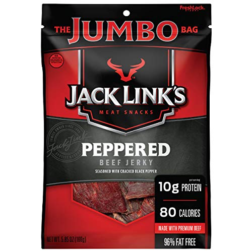 Jack Link's Beef Jerky, Peppered, 5.85 oz. Sharing Size Bag –Mea...