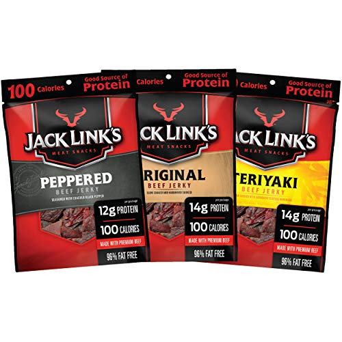 Jack Link's Beef Jerky Variety Pack – Includes Original, Teriyak...