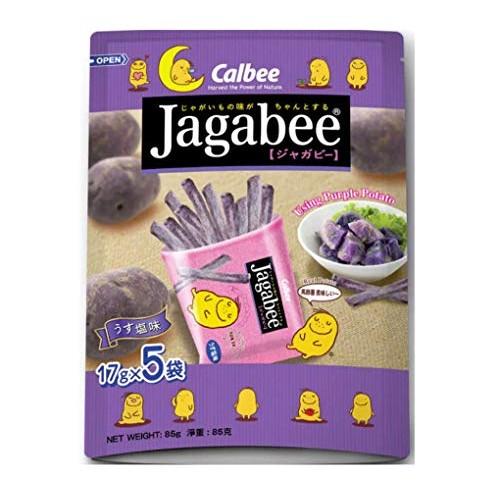 Calbee Jagabee Sweet Purple Potato Fries 17g x 5packs