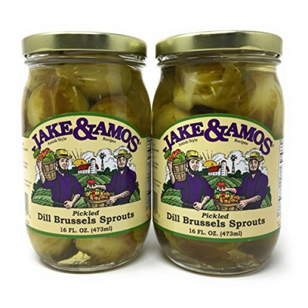 Jake & Amos Dill Brussel Sprouts / 2 - 16 Oz. Jars