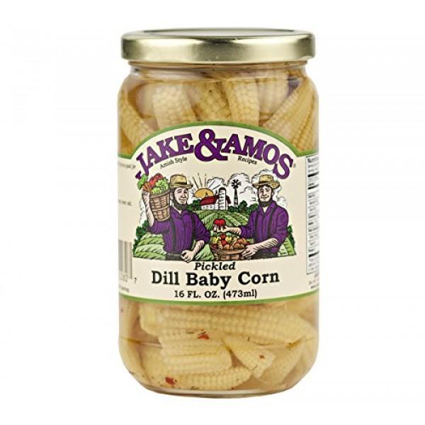 Jake & Amos Pickled Dill Baby Corn / 2 - 16 Oz. Jars