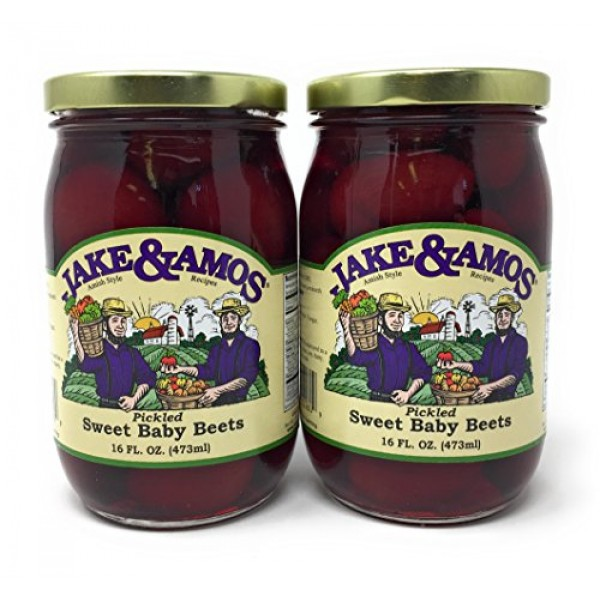 Jake & Amos - Pickled Sweet Tiny Baby Beets / 2 - 16 Oz. Jars