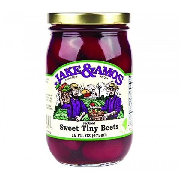 Jake & Amos Pickled Sweet Tiny Beets 16 oz. 3 Jars - Original ...