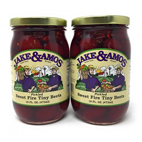 Jake & Amos - Sweet Fire Tiny Beets / 2 - 16 Oz. Jars