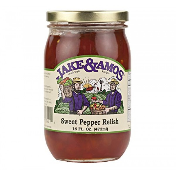 Jake & Amos Sweet Pepper Relish 16 oz. 3 Jars