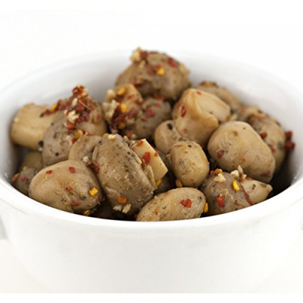 Jake & Amos Pickled Hot Garlic Mushrooms, 16 Oz. Jars Pack of 2