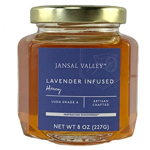 Jansal Valley Lavender Infused Honey, 8 Ounce