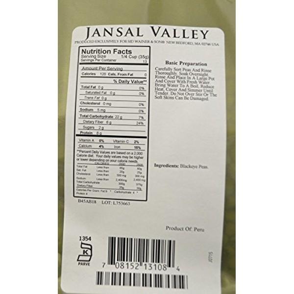 Jansal Valley Black Eyed Peas, 16 Ounce