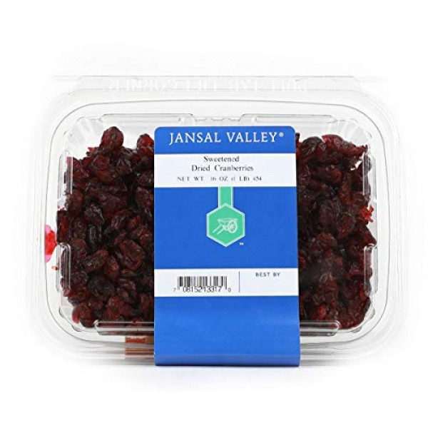 Jansal Valley Sweetened Dried Cranberries, 1 Pound