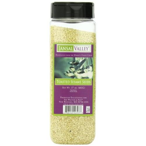 Jansal Valley Toasted Sesame Seeds, 17 Ounce