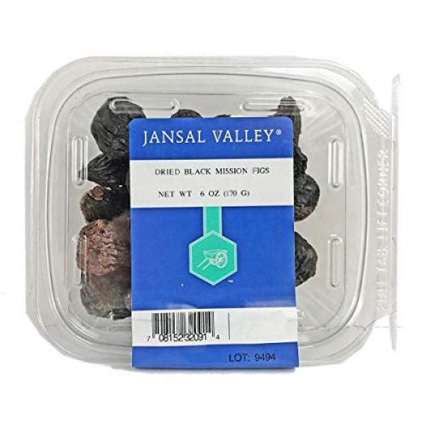 Jansal Valley Dried Black Mission Figs, 6 oz