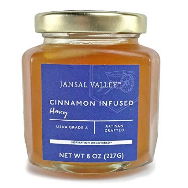 Jansal Valley Cinnamon Infused Honey, 8 Ounce