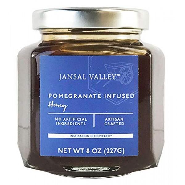 Jansal Valley Pomegranate Infused Honey, 8 Ounce