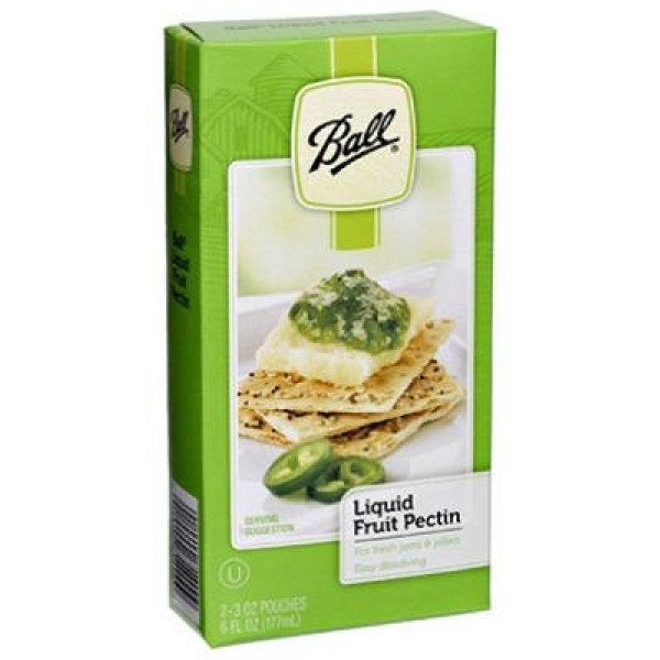 Ball Liquid Fruit Pectin, Contains 2 Packets Pack of 12