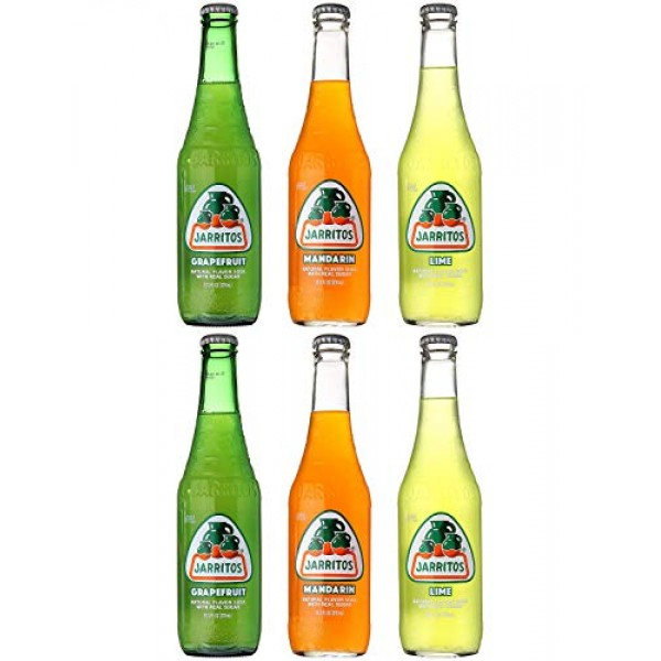 Jarritos Mexican Soft Soda Drink, Grapefruit, Mandarin, Lime - V...
