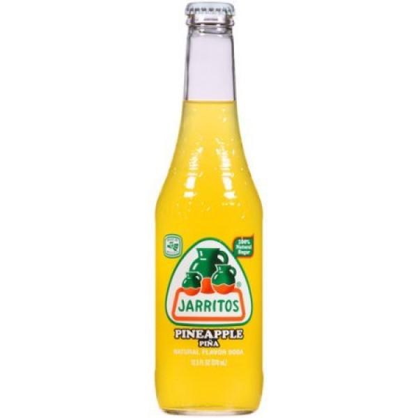 Jarritos Pineapple Natural Flavor Soda, 12.5 fl oz, Pack of 24