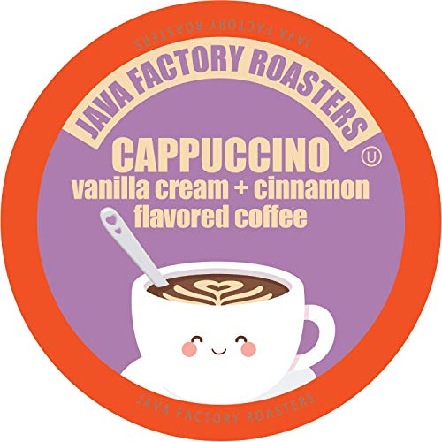 Java Factory Cappuccino Flavored Coffee for Keurig K Cup Brewers...