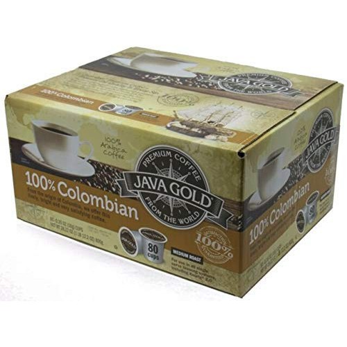 Java Gold 100% Colombian Medium Roast Coffee (For Use in All Sin...