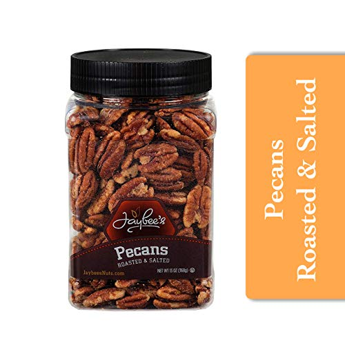 Jaybees Whole Roasted Salted Pecans - Great for Gift Giving or ...