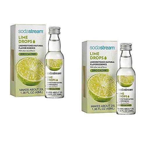 SodaStream Fruit Drops Lime Flavor 1.36 fl oz, Pack of 2
