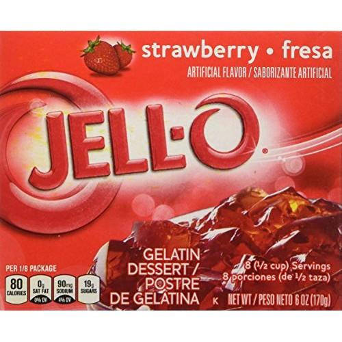 Jell-O Strawberry Gelatin Dessert 6 oz