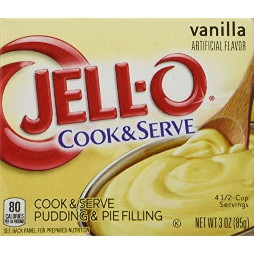 Jell-O Vanilla Cook & Serve Pudding, 3 oz 85g 4-Pack