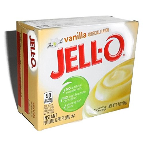 Jell-O Vanilla Instant Pudding & Pie Filling, 3.4 Ounce 96g, ...