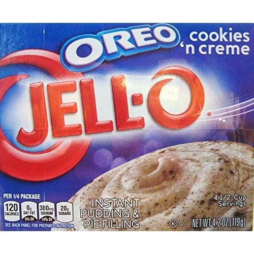 JELL-O OREO Cookies N Creme Instant Pudding and Pie Filling 4.2...