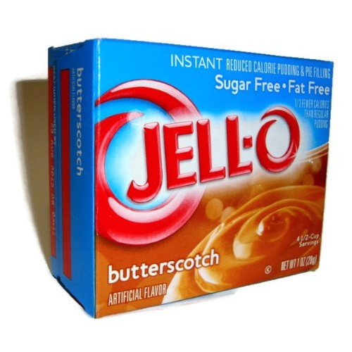 Jell-O Butterscotch Instant Pudding Sugar Free 4-Pack