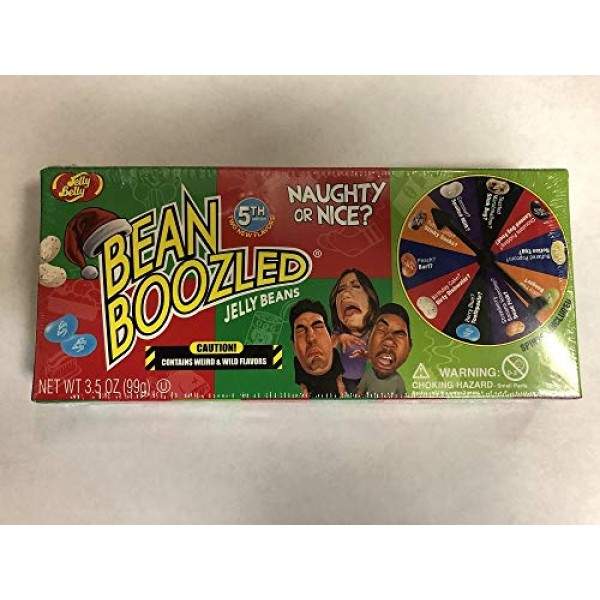 Bean Boozled Naughty Or Nice Jelly Belly Spinner Jelly Bean 3.5o...